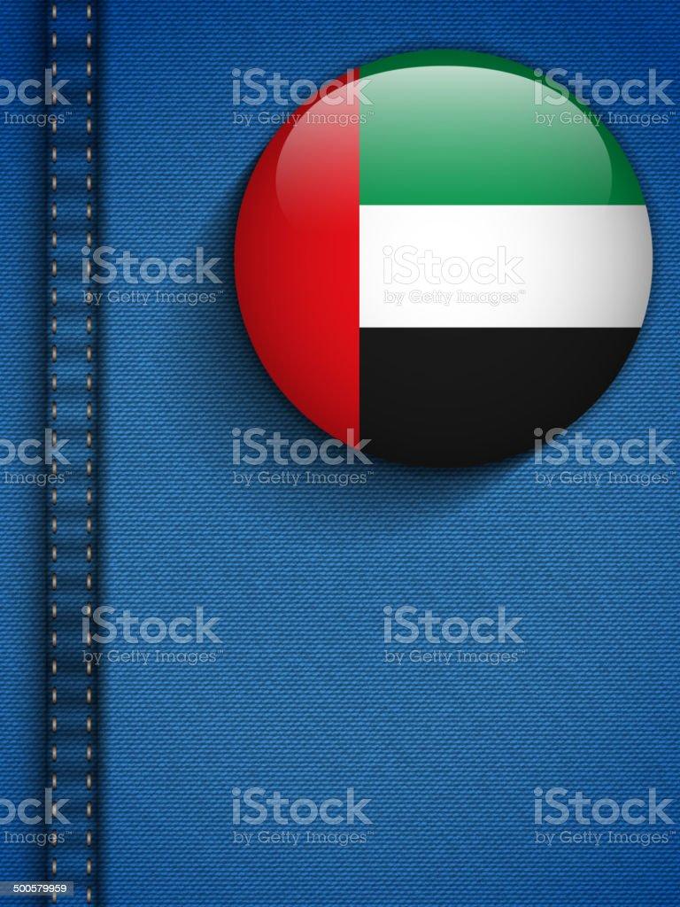 United Arab Emirates Flag Button in Jeans Pocket vector art illustration