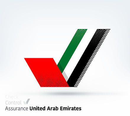 United Arab Emirates Flag for Controlling & Ensuring