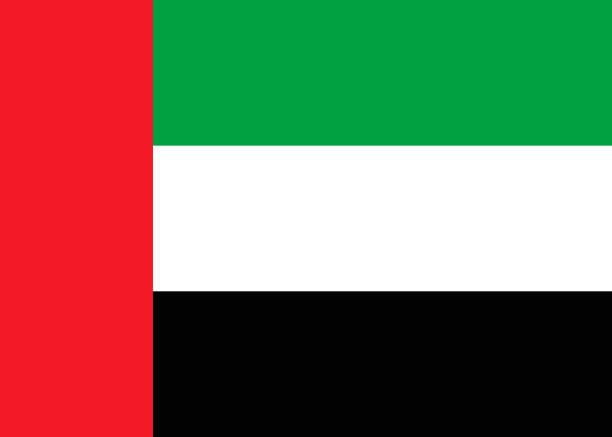 아랍에미리트 국기 - uae flag stock illustrations