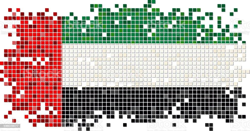 United Arab Emirates grunge tile flag. Vector illustration vector art illustration