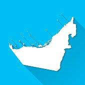 Map of United Arab Emirates.