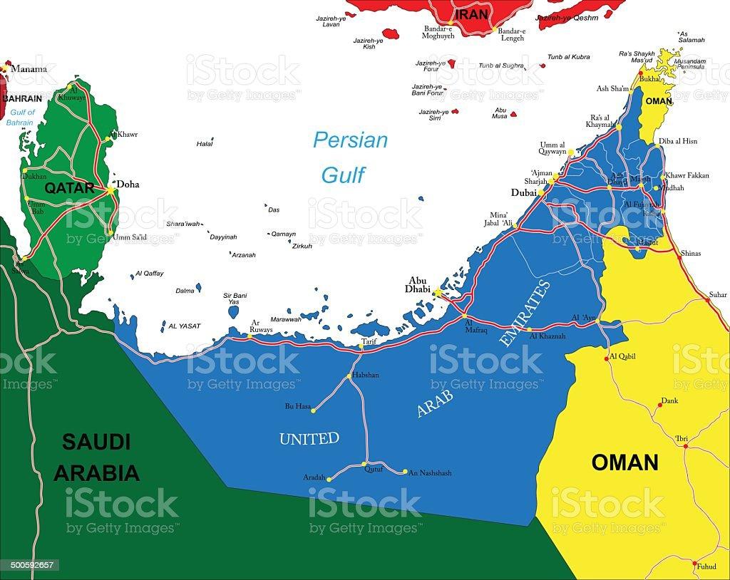 United Arab Emirates Map Stock Illustration - Download Image ... on morocco map, sudan map, qatar map, emirates map, syria map, iraq map, yemen map, turkey map, israel map, maldives map, western sahara map, east timor map, philippines map, kabul map, cyprus map, united college map, sri lanka map, baghdad map, bahrain map, lebanon map,