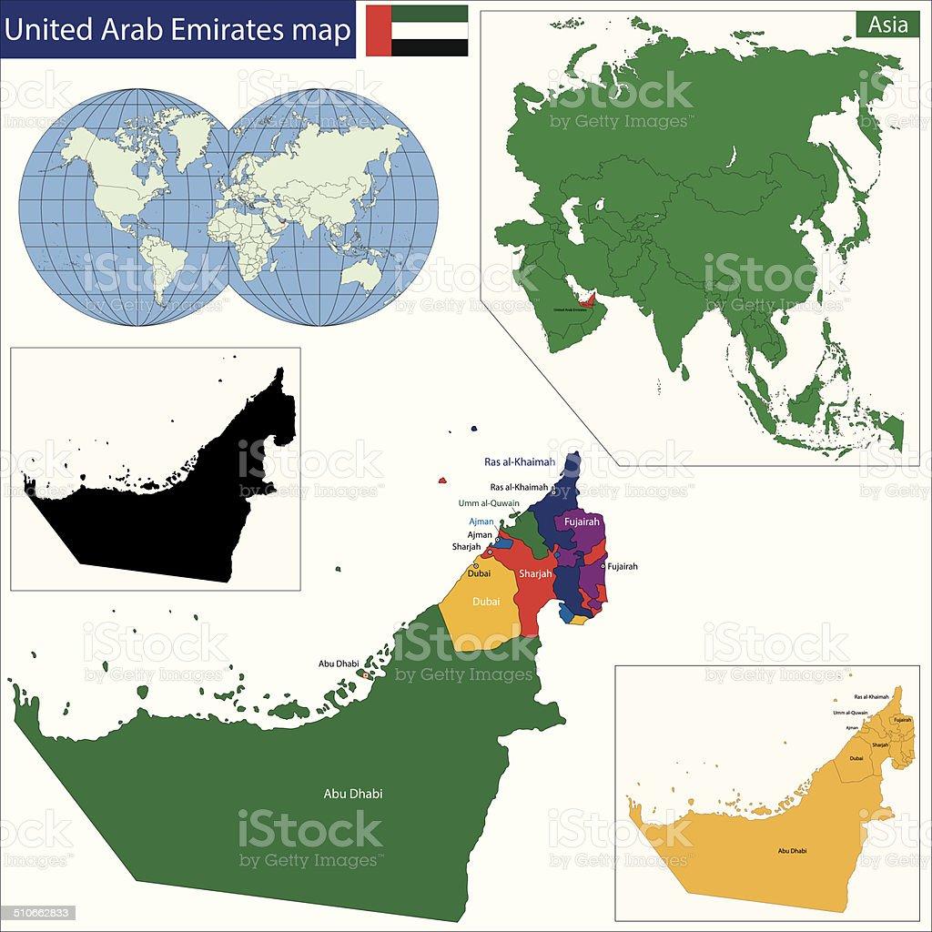 United Arab Emirates Map Stock Illustration - Download Image