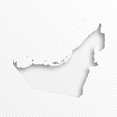 Map of United Arab Emirates with a realistic paper cut effect isolated on white geometric abstract background (modern and trendy paper effect). Vector Illustration (EPS10, well layered and grouped). Easy to edit, manipulate, resize or colorize. Please do not hesitate to contact me if you have any questions, or need to customise the illustration. http://www.istockphoto.com/portfolio/bgblue