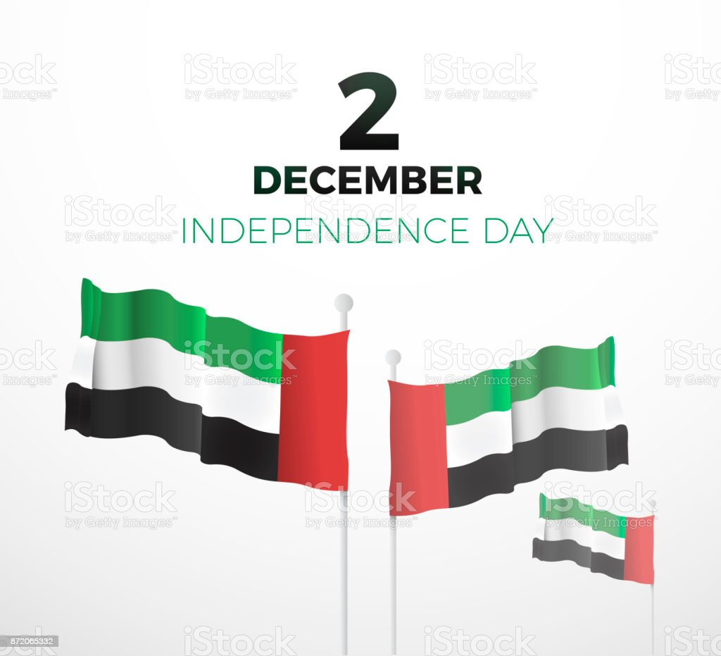 United Arab Emirates National Day December The 2nd Vector