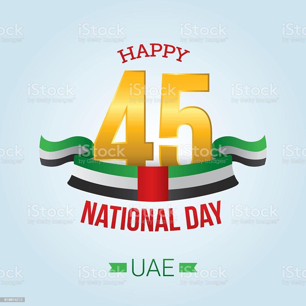 United Arab Emirates (UAE) National Day vector art illustration