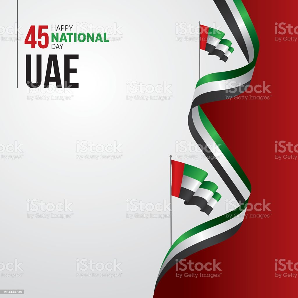 United Arab Emirates (UAE) National Day vector art illustration