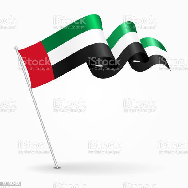 阿拉伯聯合大公國針波浪旗向量圖向量圖形及更多三角旗圖片