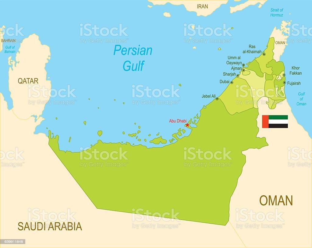 United Arab Emirates vector art illustration