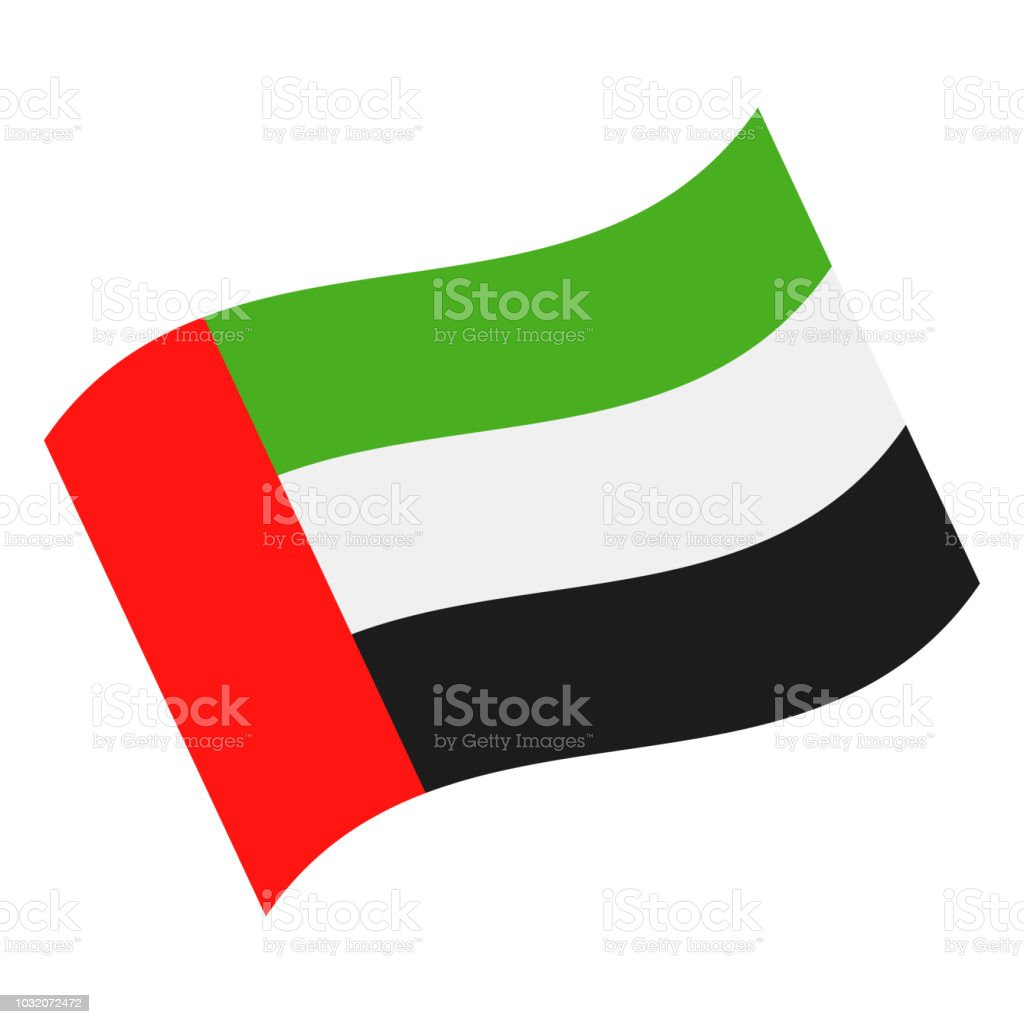united arab emirates waving flag vector flat icon stock vector art rh istockphoto com waving flag vector file waving flag vector tutorial