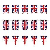 United Kindom flag bunting
