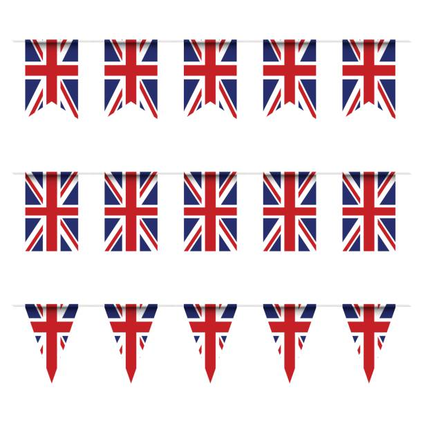 illustrations, cliparts, dessins animés et icônes de drapeau de royaume uni banderoles - drapeau du royaume uni
