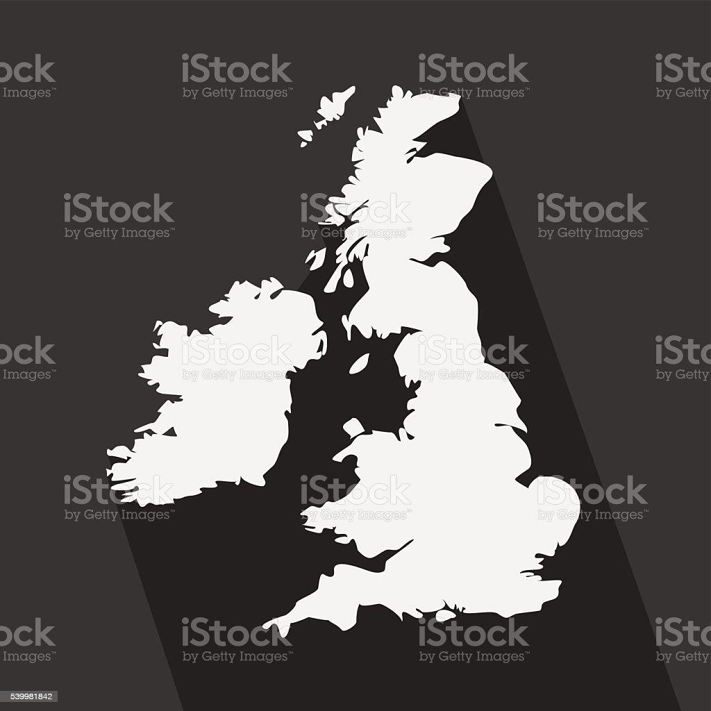 Carte Royaume Uni Noir Et Blanc.Royaumeuni Noir Et Blanc Carte Sur Larriereplan Vecteurs