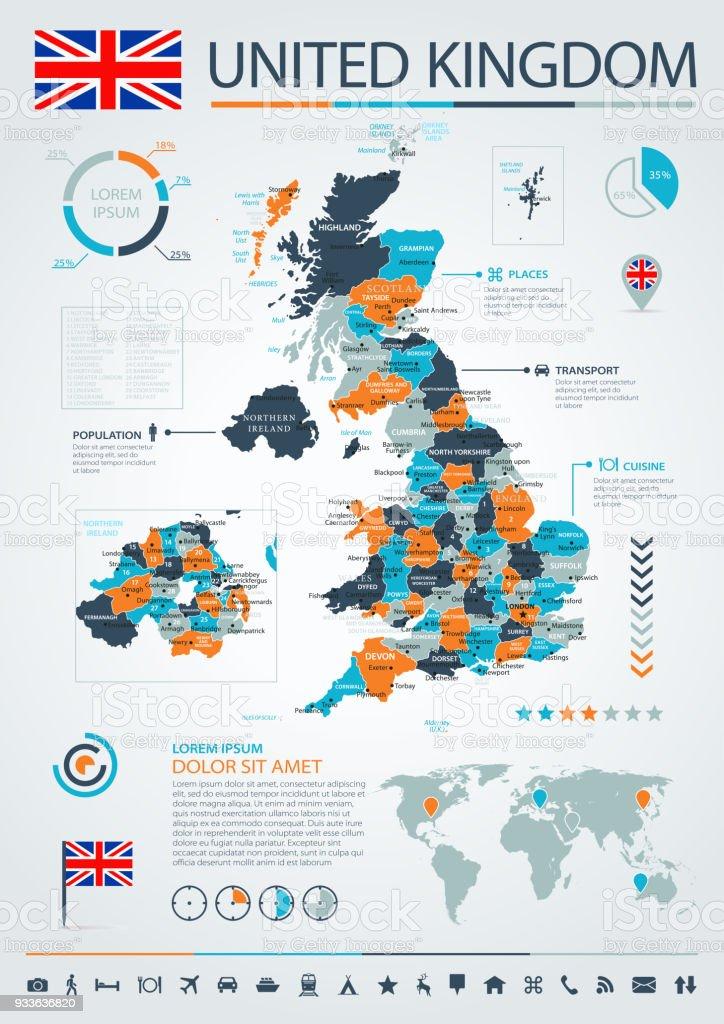 Ilustración de 12 Reino Unido Azulnaranja Infografía 10 y más banco ...