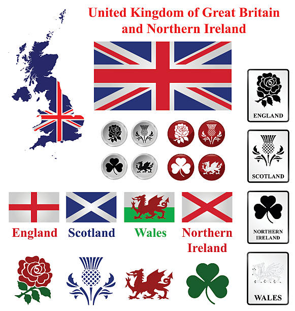 united kingdom collection - wales stock illustrations, clip art, cartoons, & icons