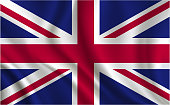 United Kingdom flag background