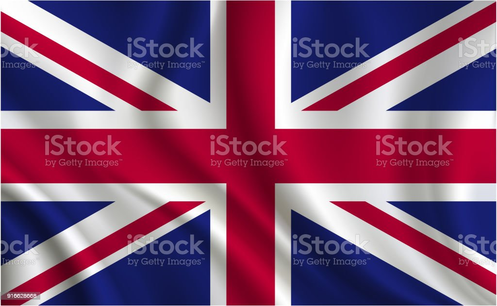 United Kingdom flag background vector art illustration