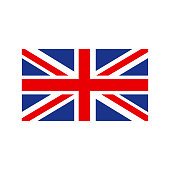 United Kingdom Flag. Flag of the Great Britain, British flag, Union Jack. Vector