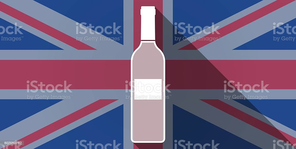 United Kingdom flag icon with a bottle vector art illustration