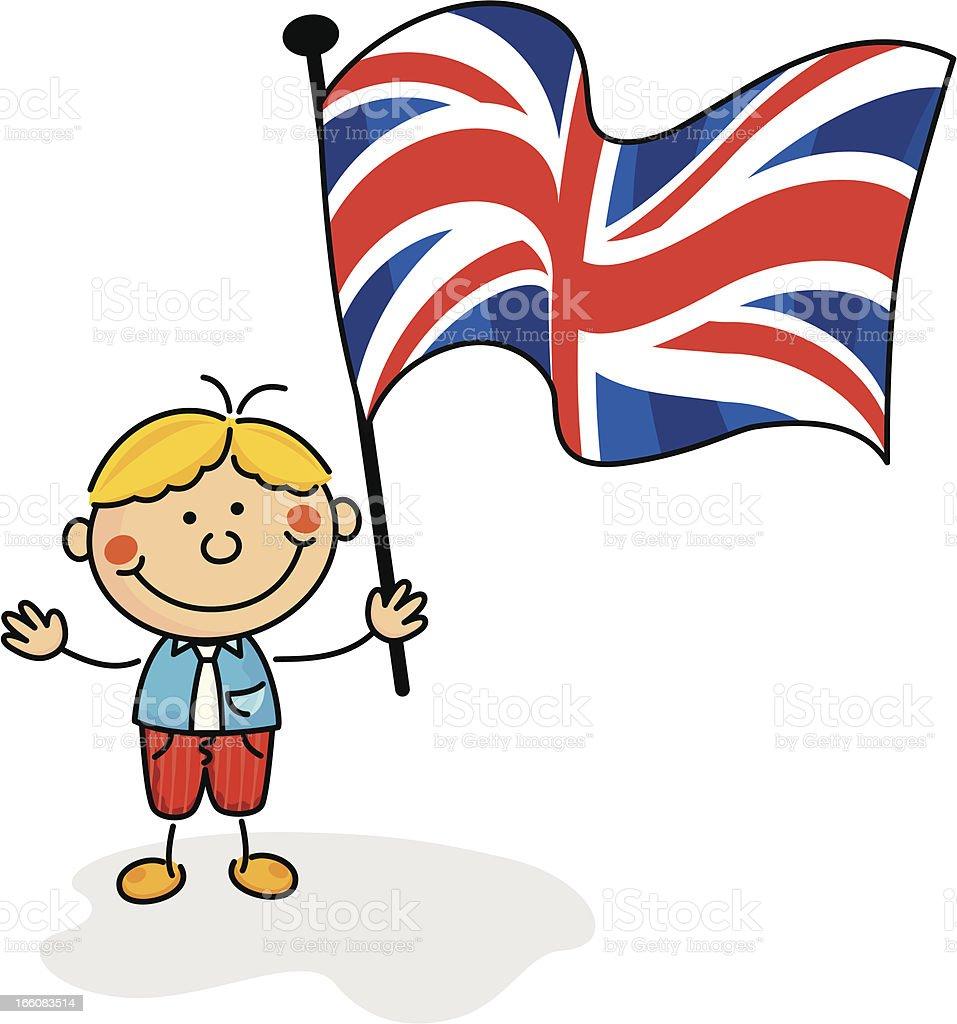 United Kingdom Flag Kids Stock Vector Art More Images Of Cartoon