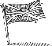 United Kingdom Flag Pin Drawing