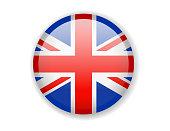 United Kingdom flag. Round bright Icon. Vector Illustration