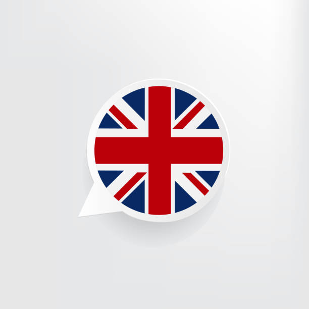 영국 국기 연설 거품 - 잉글랜드 문화 stock illustrations