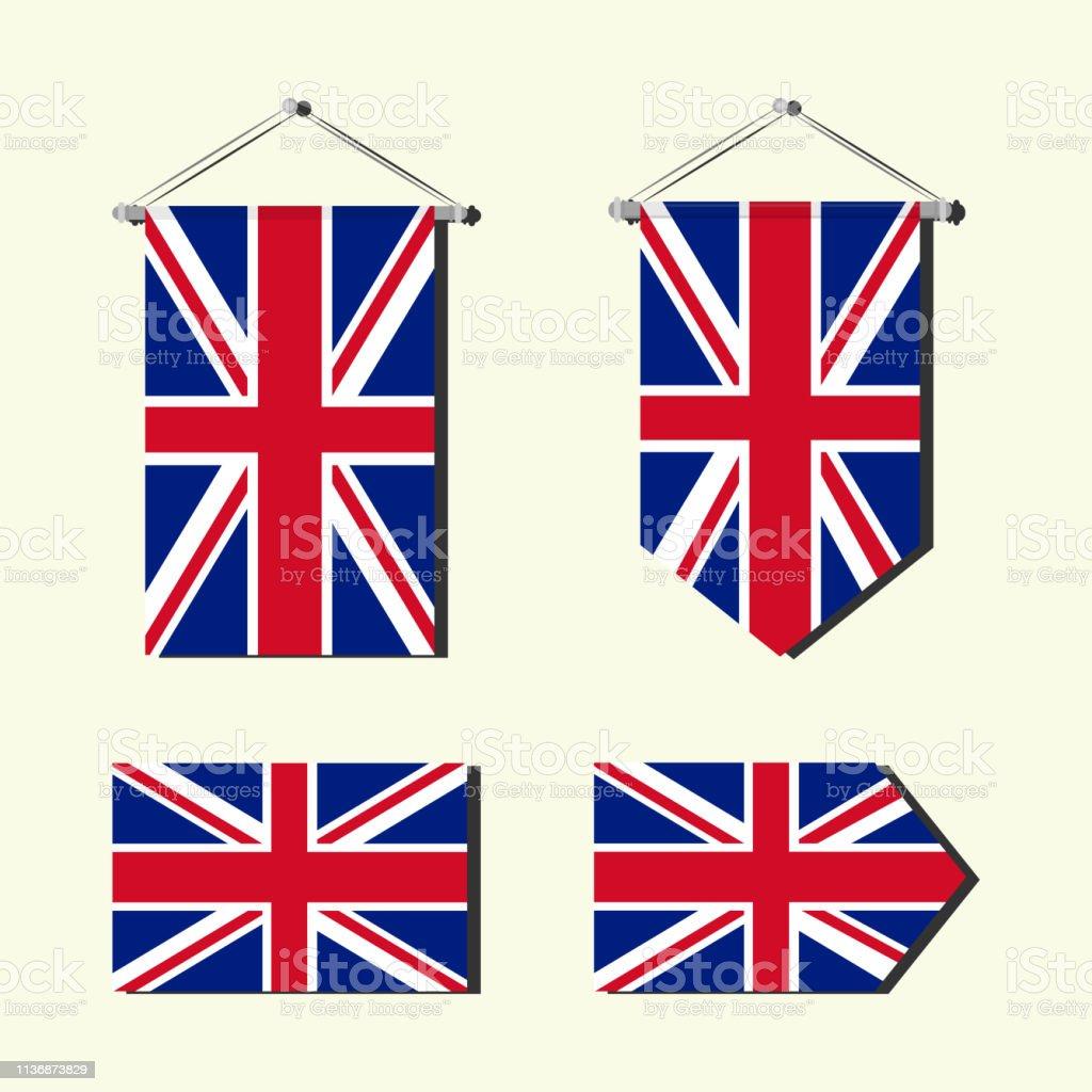 イギリス国旗 ベクターアートイラスト