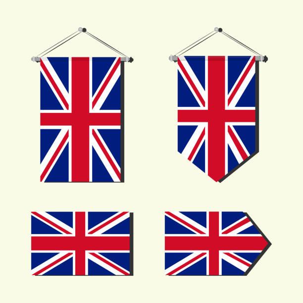 イギリス国旗 - イギリスの国旗点のイラスト素材/クリップアート素材/マンガ素材/アイコン素材