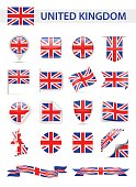 United Kingdom Flag Vector Set