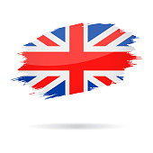 United Kingdom - Grunge Flag Vector Glossy Icon