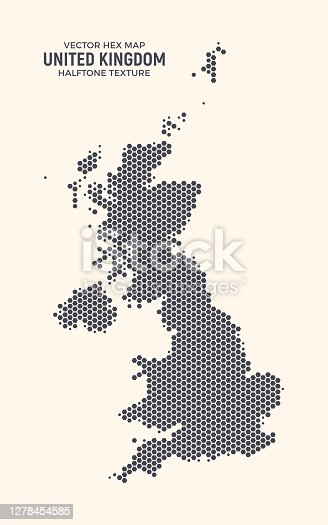 istock United Kingdom Hex Map Vector Isolated On Light Background 1278454585