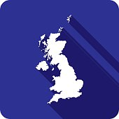 United Kingdom Icon Silhouette
