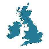 istock United Kingdom map shape. 1255442357
