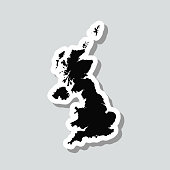 istock United Kingdom map sticker on gray background 1316659417