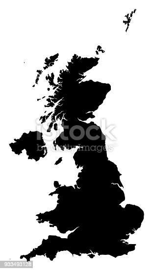 Vector of highly detailed map of the United Kingdom  - The url of the reference file is : http://www.lib.utexas.edu/maps/europe/europe_ref_2010.pdf