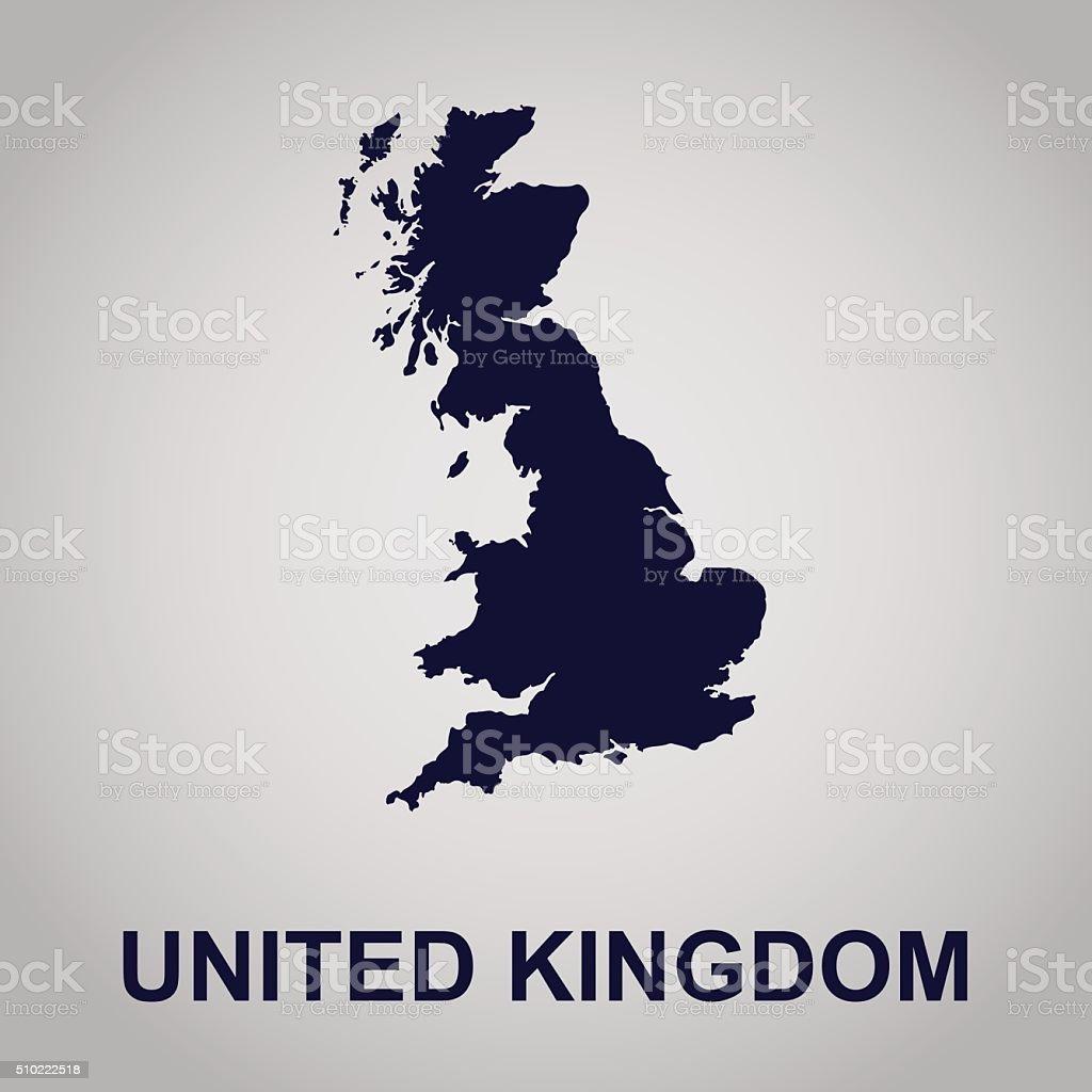United Kingdom, map, vector illustration vector art illustration