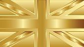 united kingdom of england gold flag vector design