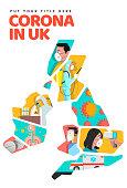 United Kingdom on Corona epidemic cover and page design