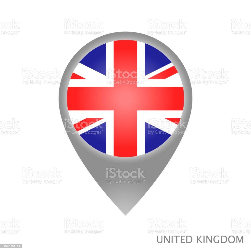 Ponto do Reino Unido - ilustração de arte em vetor