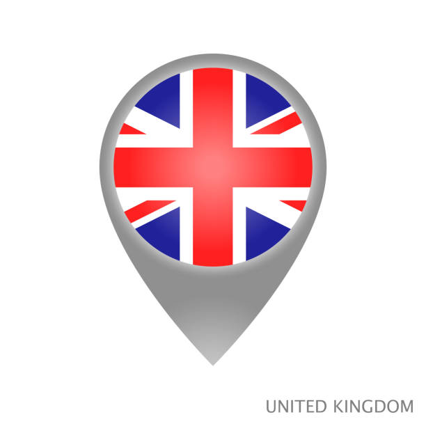 ilustrações, clipart, desenhos animados e ícones de ponto do reino unido - bandeira union jack