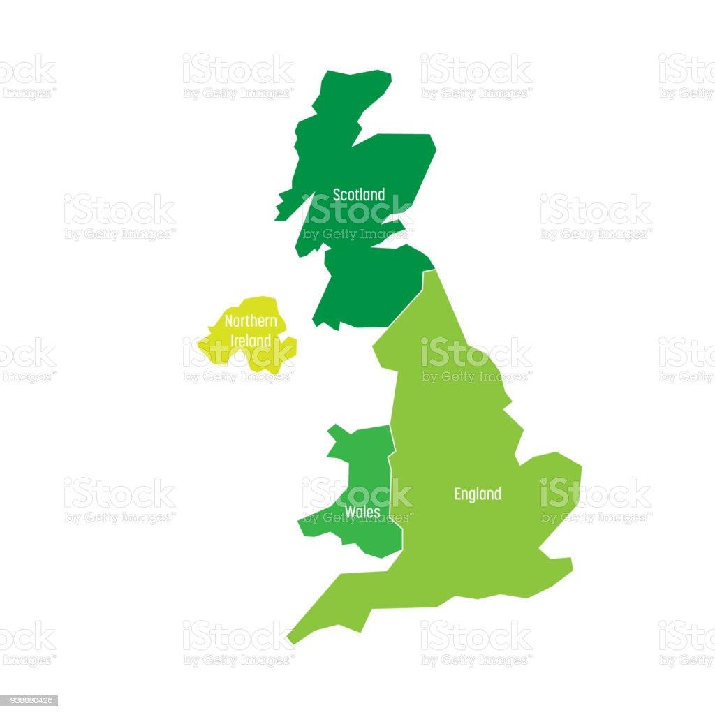 Karte Von Vereinigtes Königreich Vereinigtes Königreich Von ...