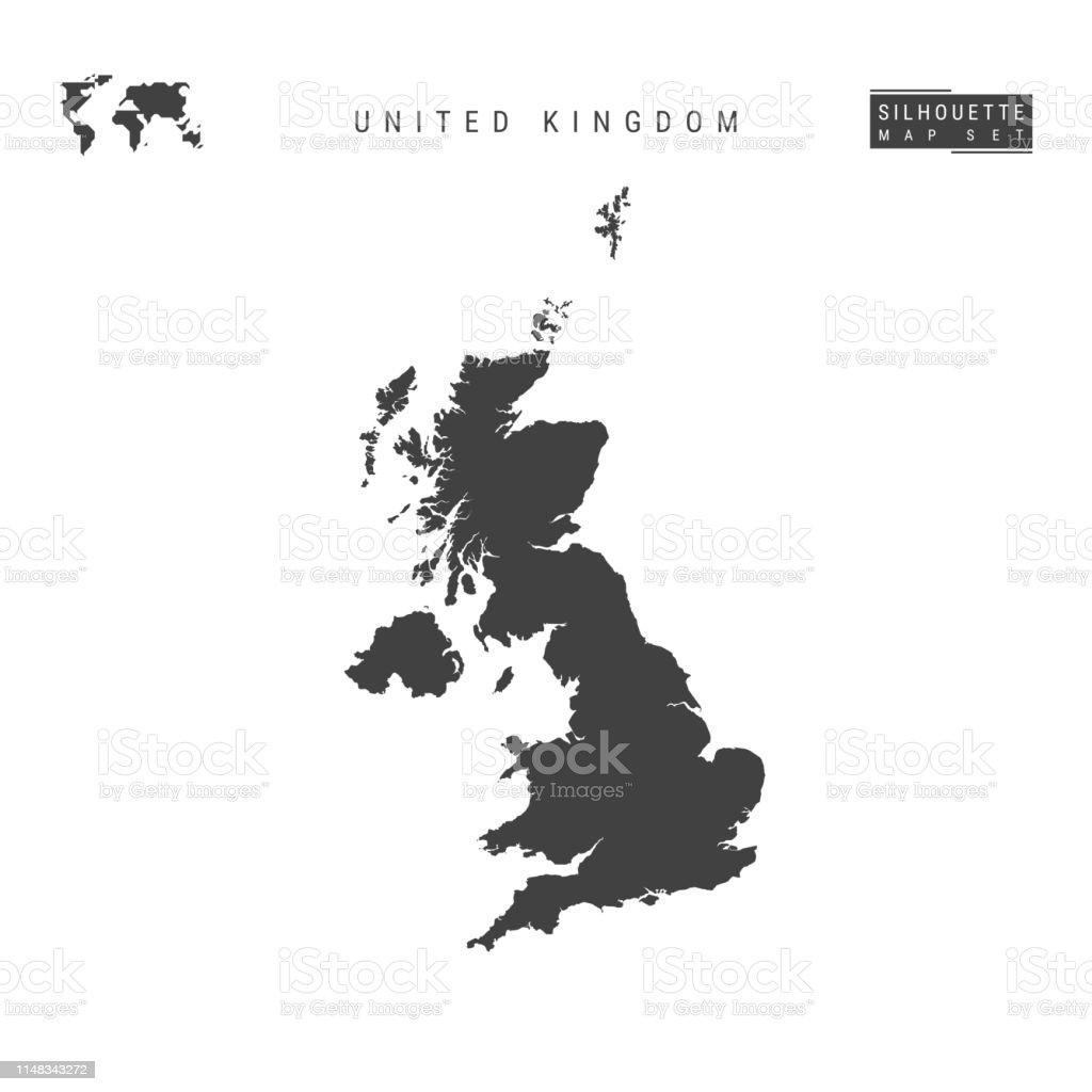 United Kingdom Vector Map Isolation On White Background ...