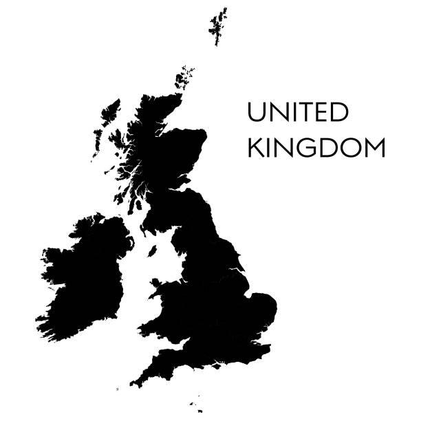 bildbanksillustrationer, clip art samt tecknat material och ikoner med karta över united kingdrom - storbritannien