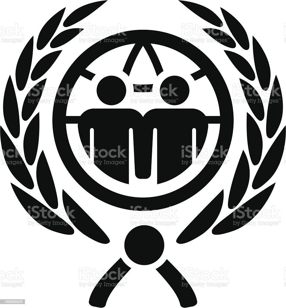 United men sign vector art illustration