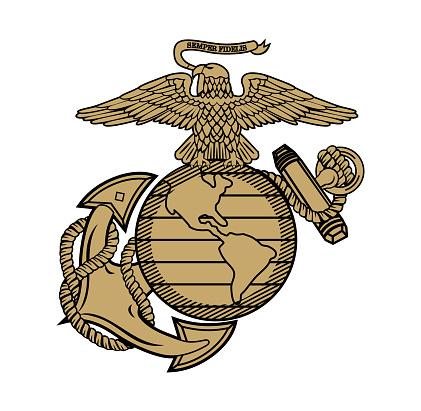 United State Marine Corps Eagle Globe and Anchor ega design