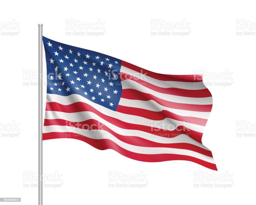 United State of America flag vector art illustration