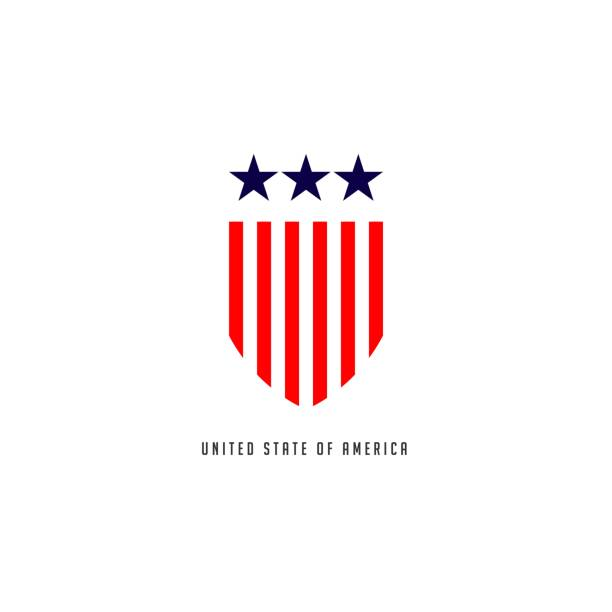 united stated of america vector template design - military stock illustrations