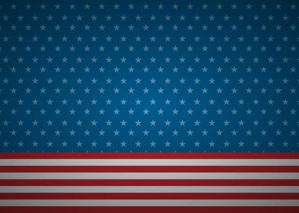 United States abstract flag background vector art illustration