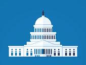 United States Capitol dome illustration concept.